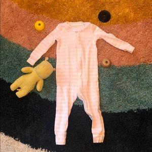 Primary Striped Footless Zip Pajamas 12-18mo